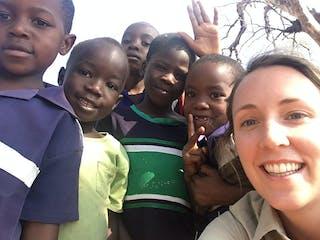 Kids Selfie At Lake Malawi Near Pumulani Lodge