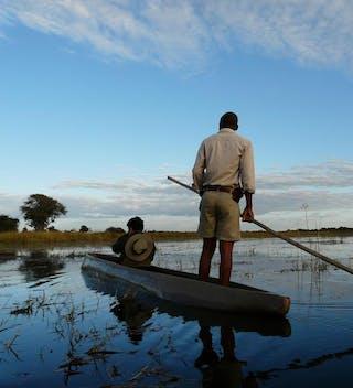 Kwara Camp Mokoro Trip Canoe