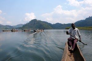 Lake  Mutanda  Canoe  A  Robert  Brierley