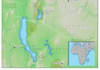 Lake Turkarna Map