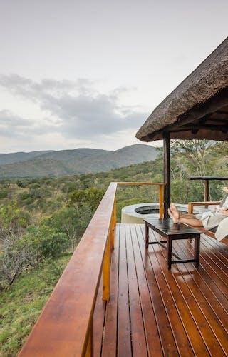 Leopard Mountain Relax On Verandah