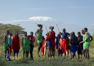 Maasai Warriors In Kenya