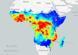Malaria Map In 2000 Source Map Ox Ac Uk The Malaria Map Project