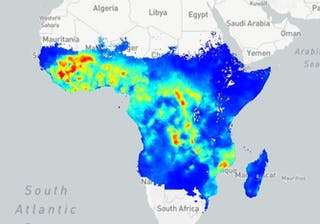 Malaria Map In 2015 Source Map Ox Ac Uk The Malaria Atlas Project