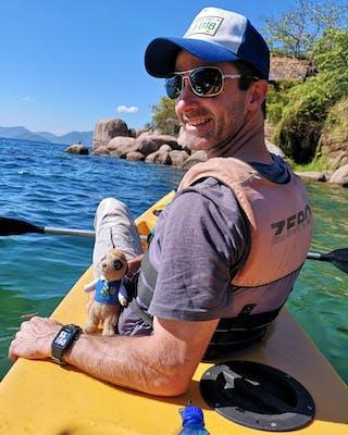 Marc Kayaking On Lake Malawi