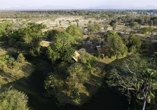 Mvuu Lodge Aerial View