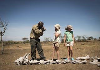 Nomad Tanzania Giraffe Skeleton On A Family Walking Safari In The Serengeti