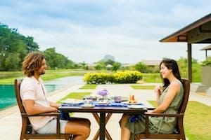 Outside Dining At  Water  Garden  Sigiriya