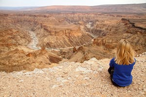 Overlooking Fish River Canyon