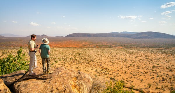 Overlooking The Samburu National Reserve In Kenya