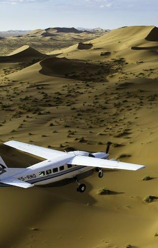 Plane From Swakopmund To Skeleton Coast Over South Skeleton Coast