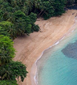 Principe Beach Aerial Excellent