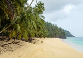 Principe Beach And People