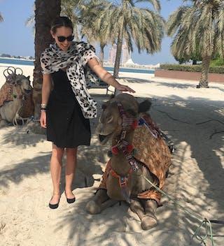 Rebecca On Emirates Palace Beach