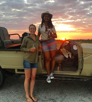 Rebecca With Steff From Rps In Zambia