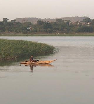 Reed Boat On Lake Tana