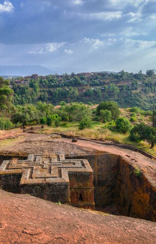 Rock Church In Lalibela