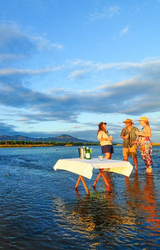 Royal Zambezi Lodge Sundowners In The River