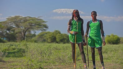 Runners At The Maasai Olympics