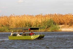 Selous Riverside Camp  Boat  Safari