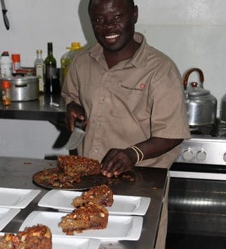 Serving Up The Pecan Pie At Kuthengo