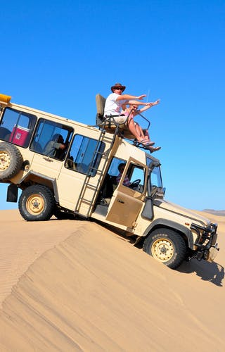 Ali on safari at the Skeleton Coast