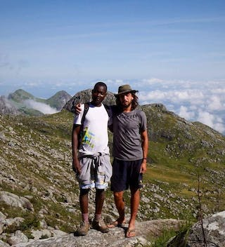 Snowden Guiding Guests Up Mount Mulanje