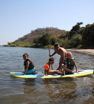 Stand Up Paddle Boarding On Lake Malawi
