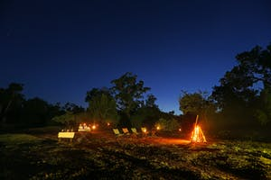 Sundowner  Outdoors With A  Campfire At  Leopard  Trails  Wilpattu