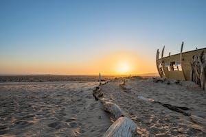 Sunset At Shipwreck Lodge