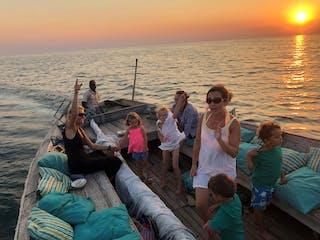Sunset Dhow Sailing On Lake Malawi