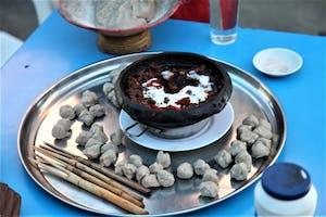 Tesfa  Dish  Adigrat  Tigray  Tehlo  Barley  Dumplings  W  Fiery  Hot  Beef  Stew