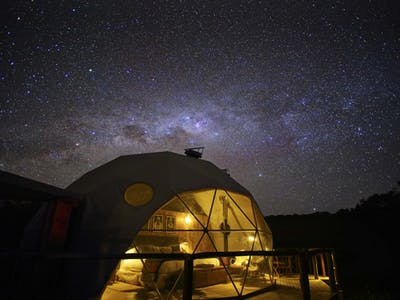 The Highlands Starry Dome At Night