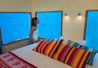 The  Manta  Resort Underwater Room Bedroom