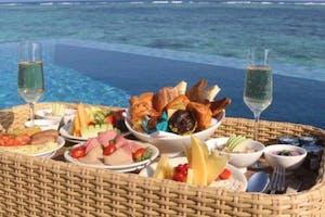 The Residence Maldives Floating Breakfast