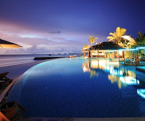 The Residence Maldives Pool At Night
