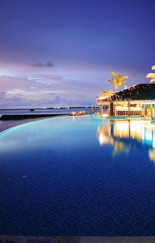 The Residence Maldives Pool At Night