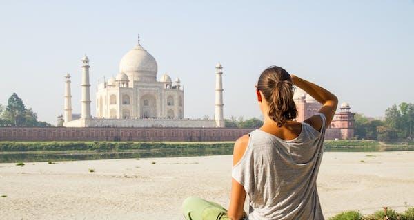 The Taj Mahal From Across The Yamuna