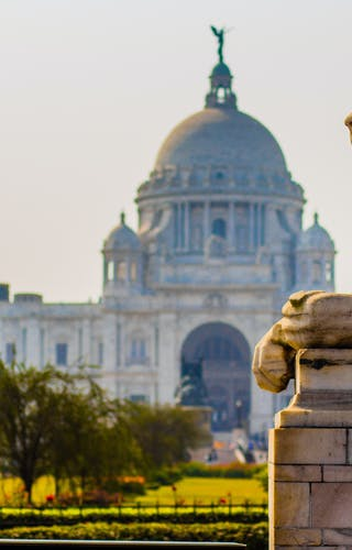 The Victoria Memorial In Kolkata