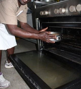 The Pie Goes Into The Oven At Kuthengo