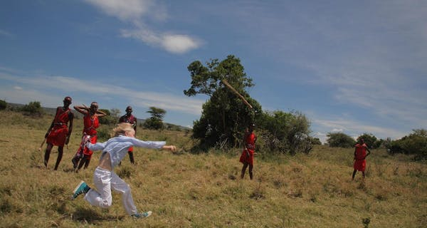 Throwing A Rungu At Saruni Warriors Academy