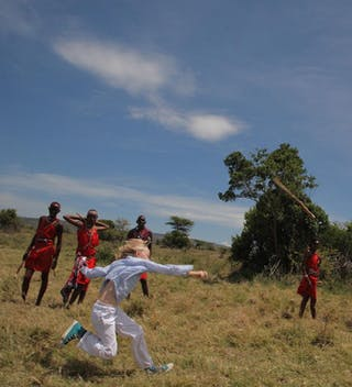 Throwing A Rungu At Saruni Warriors Academy