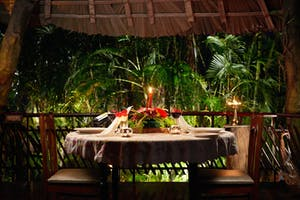 Tranquil  Resort  Candle  Lit  Dinner On The  Tree  Deck