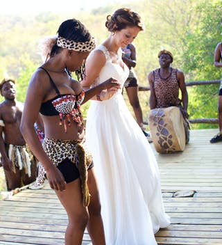 Tribal Wedding Dancing At Garonga Copyright Louise Meyer Photographers