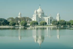 View Of  Victora  Memorial In  Kolkata