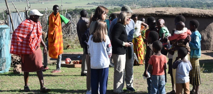 Visiting A Maasai Village Near Saruni Mara