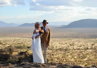 What A Backdrop For A Wedding At Saruni Samburu
