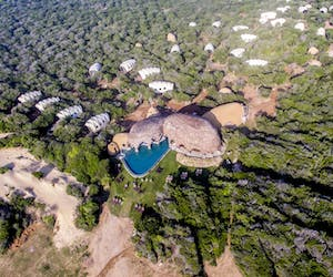 Wild Coast Tented Lodge Aerial View