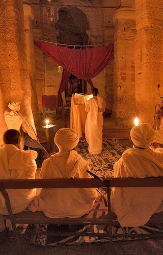Worship Inside A Gheralta Rock Church Korkor Lodge Credit O Grunewald