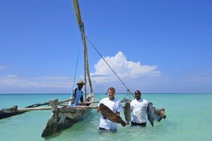 Fishing Off Diani Beach At Almanara Villas